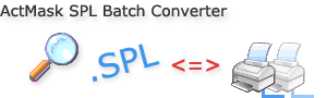 ActMask SPL Batch Converter, the .SPL format (Print Spooling file) Viewer,