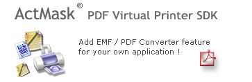 ActMask PDF Virtual Printer Driver